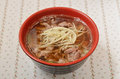 Mutton soup famous snack food at night market in taiwan Royalty Free Stock Photo