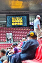 Mutua open madrid atmosphere in the tribune central court manolo santana at may Stock Photos