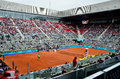 Mutua open madrid atmosphere in the tribune central court manolo santana at may Royalty Free Stock Images