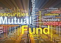 Mutual fund background concept glowing Royalty Free Stock Photography