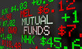 Mutual Funds Stock Tickers Scrolling Investment Options Royalty Free Stock Photo