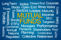 Mutual Funds Word Cloud Royalty Free Stock Photo