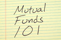 Mutual Funds 101 On A Yellow Legal Pad Royalty Free Stock Photo