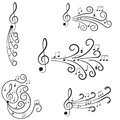 Muzyka. Treble clef i notatki dla twój projekta. Obraz Stock