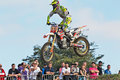 Mx rbpn champion culham uk september kevin whatley having already won the series of the s class leaps the table top during the Stock Photo