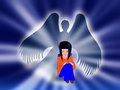 My angel god will command his angels to protect you wherever you go Royalty Free Stock Images