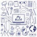 My Blog Set Sketch