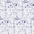 My Blog Sketch Seamless Pattern