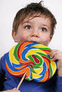 My boy lollipop Stock Photos