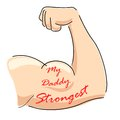 My daddy strongest illustration of father s day background with message Royalty Free Stock Photography