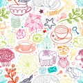 My Favorite Things Doodle Seamless Pattern