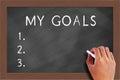 My goals list on Blackboard Royalty Free Stock Photo