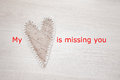 My heart is missing you Royalty Free Stock Photo