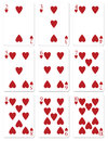 My illustration heart playing cards Royalty Free Stock Photo