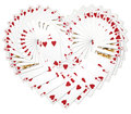 My illustration heart playing cards fanned heart shape Stock Image