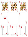 My illustration heart playing cards jack ace plus blank versions clipping path to insert your own images Stock Photos