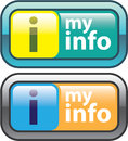 My Info Button Vector Royalty Free Stock Photo