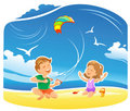 My Kite flying high Stock Photos