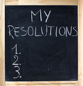 My Resolutions Stock Images