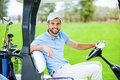 On my way to the next hole. Royalty Free Stock Photo