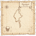Myanmar old pirate map.