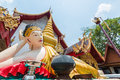 Myanmar style reclining Buddha Image Royalty Free Stock Photo