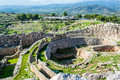Mycenae archaeological place in greece a photo of at Stock Image