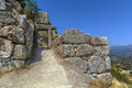 Mycenae is an archaeological site in Greece. Royalty Free Stock Photo