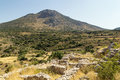 Mycenae greece view of vicinities from the hill Royalty Free Stock Images