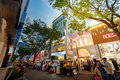 Myeongdong shopping district on Jun 18, 2017 in Seoul city, Sout