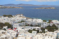 Mykonos island in greece of the cyclades Stock Photo