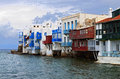 Mykonos island in greece the small venice of Royalty Free Stock Photo