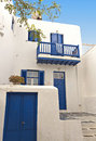 Mykonos island in greece traditional houses at Royalty Free Stock Photos