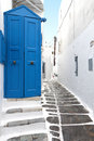 Mykonos island houses in greece traditional streets and of Royalty Free Stock Photo