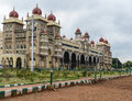 Mysore palace in india on a cloudy day Stock Photography