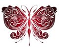 Mysterious butterfly .Tattoo design Royalty Free Stock Images