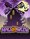 Mysterious Halloween mill 2 Royalty Free Stock Image