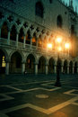 Mysterious plazza in the evening in Venice Royalty Free Stock Photo