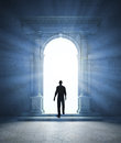 Mysterious portal a an ancient archway Royalty Free Stock Image