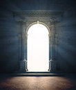 Mysterious portal a an ancient archway Stock Image