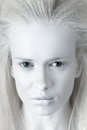 Mysterious woman portrait of albino Stock Image