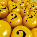 Mysterious yellow balls Stock Photos
