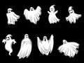 Mystery halloween ghosts Stock Images