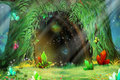 Mystery Tree Hole. Video Games Digital CG Artwork