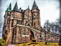 Mystic castle located in vaxjo sweden Stock Images