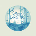 Mystic christmas forest vector landscape illustration Stock Images