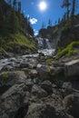 Mystic Falls Yellowstone National Park Royalty Free Stock Photo