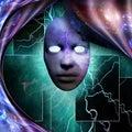 Mystic mask Royalty Free Stock Photo