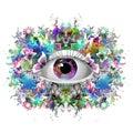 Mystic symbol colorful illustration Royalty Free Stock Photo