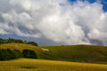Mystic white horse near avebury famous on the hill in england Stock Photography